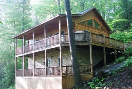 nc boone rock b exterior cabins the s kilkelly blowing cabin log rental at rentals and